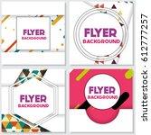 fresh background flyer style... | Shutterstock .eps vector #612777257