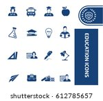 education icon set clean vector | Shutterstock .eps vector #612785657