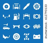 set of 16 auto filled icons... | Shutterstock .eps vector #612793133