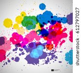 holi background of color paint... | Shutterstock .eps vector #612797027