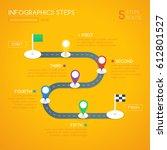 infographics design with start  ... | Shutterstock .eps vector #612801527