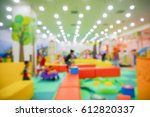 blur image of indoor playground ... | Shutterstock . vector #612820337