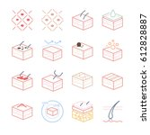 skin and dermatology icons set   Shutterstock .eps vector #612828887