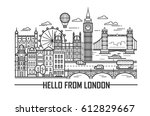 vector set of london city and... | Shutterstock .eps vector #612829667