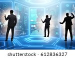businessman in big data...   Shutterstock . vector #612836327