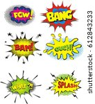 comic book sound effect speech... | Shutterstock .eps vector #612843233