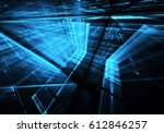 computer generated abstract... | Shutterstock . vector #612846257