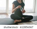 young beautiful woman... | Shutterstock . vector #612856367