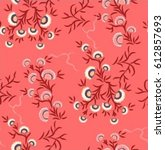clove flower floral print on... | Shutterstock .eps vector #612857693