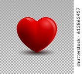 3d illustration of a heart... | Shutterstock . vector #612862457