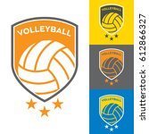a set of vector volleyball... | Shutterstock .eps vector #612866327