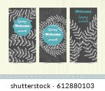 a set of templates for... | Shutterstock .eps vector #612880103