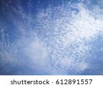 Small photo of scatter altocumulus or cirrocumulus cloud, mackerel sky