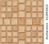 3d  pattern of wooden squares ... | Shutterstock . vector #612892823