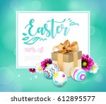 green template vector card with ... | Shutterstock .eps vector #612895577