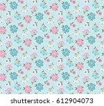 floral pattern. pretty flowers...   Shutterstock .eps vector #612904073