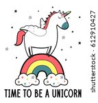 unicorn illustration vector. | Shutterstock .eps vector #612910427