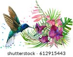 beautiful tropical nature.... | Shutterstock . vector #612915443