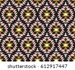 vector seamless ethnic pattern. ... | Shutterstock .eps vector #612917447