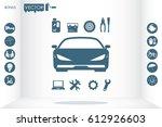 car service icon vector eps 10  ... | Shutterstock .eps vector #612926603