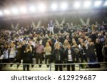 blurred background of crowd of... | Shutterstock . vector #612929687
