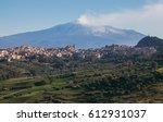 panorama of the active volcano... | Shutterstock . vector #612931037