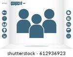 3 people icon vector... | Shutterstock .eps vector #612936923