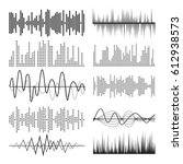 music sound waves pulse... | Shutterstock . vector #612938573