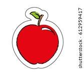 apple fresh fruit icon | Shutterstock .eps vector #612959417
