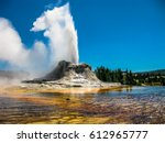 Castle Geyser Erupts With Hot...