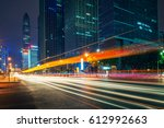 city night scenes at shenzhen... | Shutterstock . vector #612992663