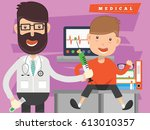 doctor  medical concept design... | Shutterstock .eps vector #613010357