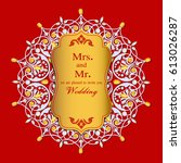 wedding invitation or card with ... | Shutterstock .eps vector #613026287