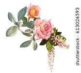 illustration of beautiful on... | Shutterstock . vector #613026593