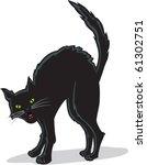 Stock vector a black cat 61302751