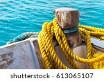 Yellow Ship Rope Wound On A...