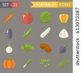 vegetables symbols healthy... | Shutterstock . vector #613073387