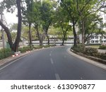 curve road with tree   green...   Shutterstock . vector #613090877