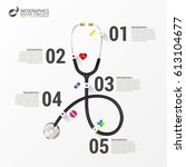 medical and health infographics.... | Shutterstock .eps vector #613104677