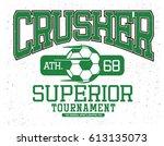soccer t shirt graphic | Shutterstock .eps vector #613135073