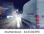 Delivery Van Drives At Night I...