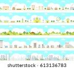vector city illustration set | Shutterstock .eps vector #613136783