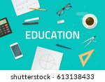 education concept vector... | Shutterstock .eps vector #613138433