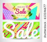 spring. sale.  | Shutterstock .eps vector #613146677