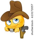 cowboy emoticon | Shutterstock .eps vector #613172057