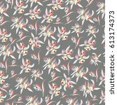 Flowery Pattern Small Scale...