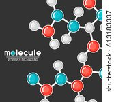 background with molecular... | Shutterstock .eps vector #613183337