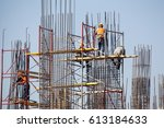 construction of an olympic... | Shutterstock . vector #613184633