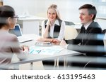 business people working with... | Shutterstock . vector #613195463