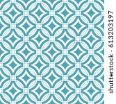 seamless ornamental pattern... | Shutterstock .eps vector #613203197